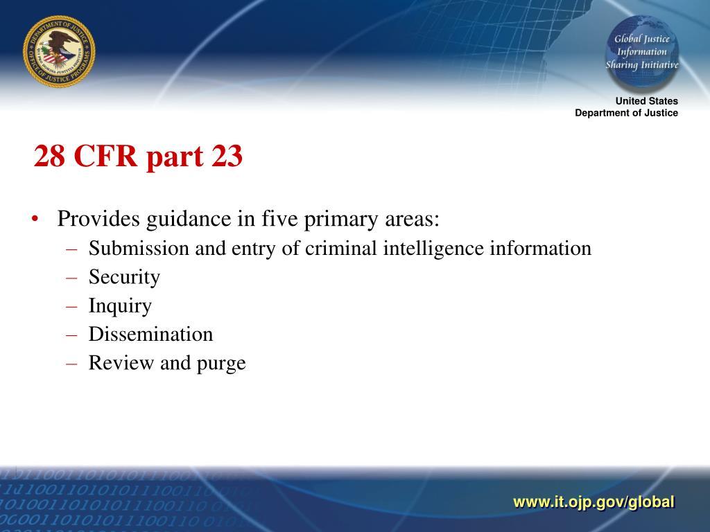 28 CFR part 23