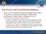 key privacy and civil liberties initiatives15