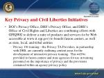 key privacy and civil liberties initiatives19