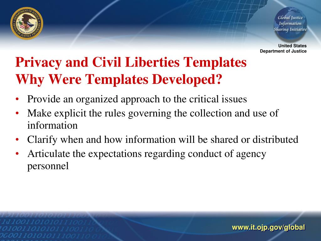Privacy and Civil Liberties Templates