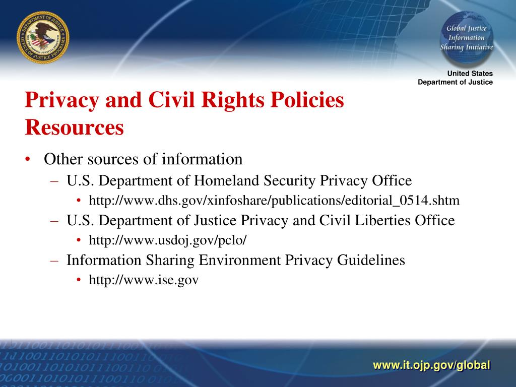 Privacy and Civil Rights Policies