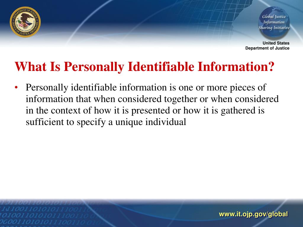 What Is Personally Identifiable Information?