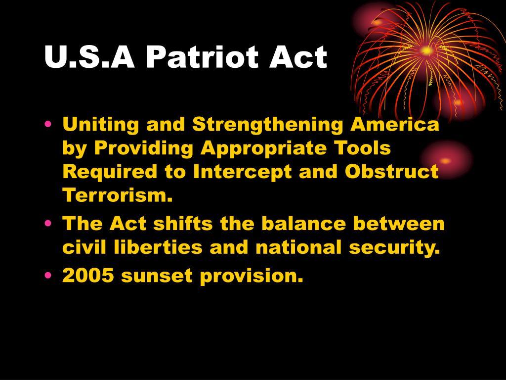 U.S.A Patriot Act