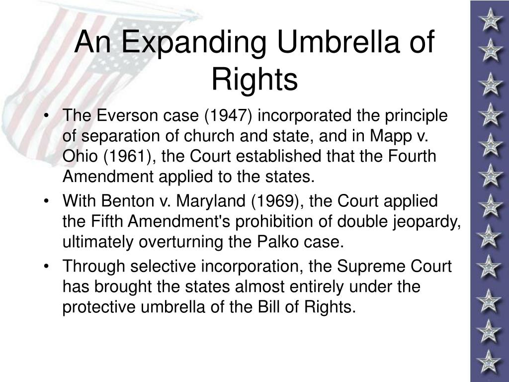 An Expanding Umbrella of Rights