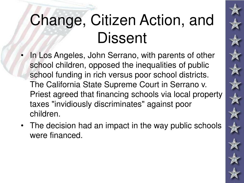 Change, Citizen Action, and Dissent