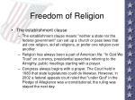 freedom of religion36