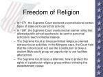 freedom of religion39