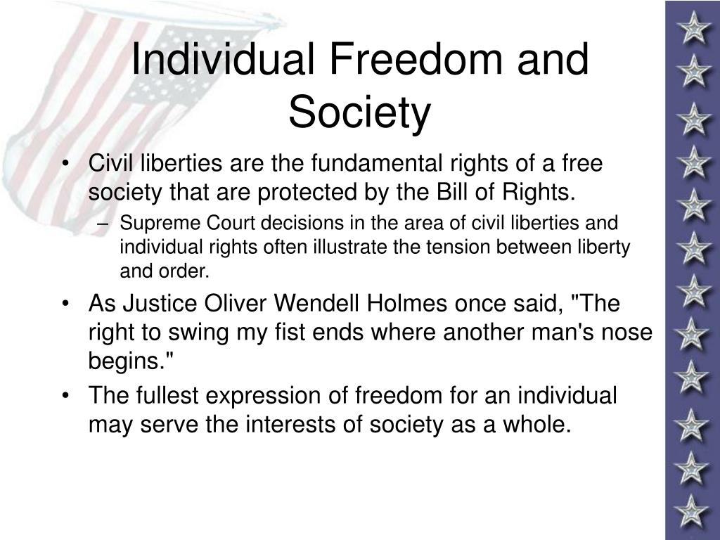 Individual Freedom and Society