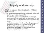 loyalty and security43