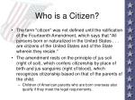 who is a citizen