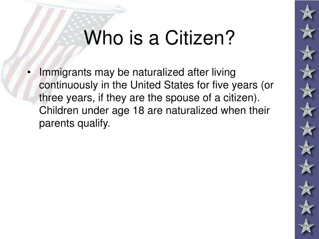 Who is a Citizen?