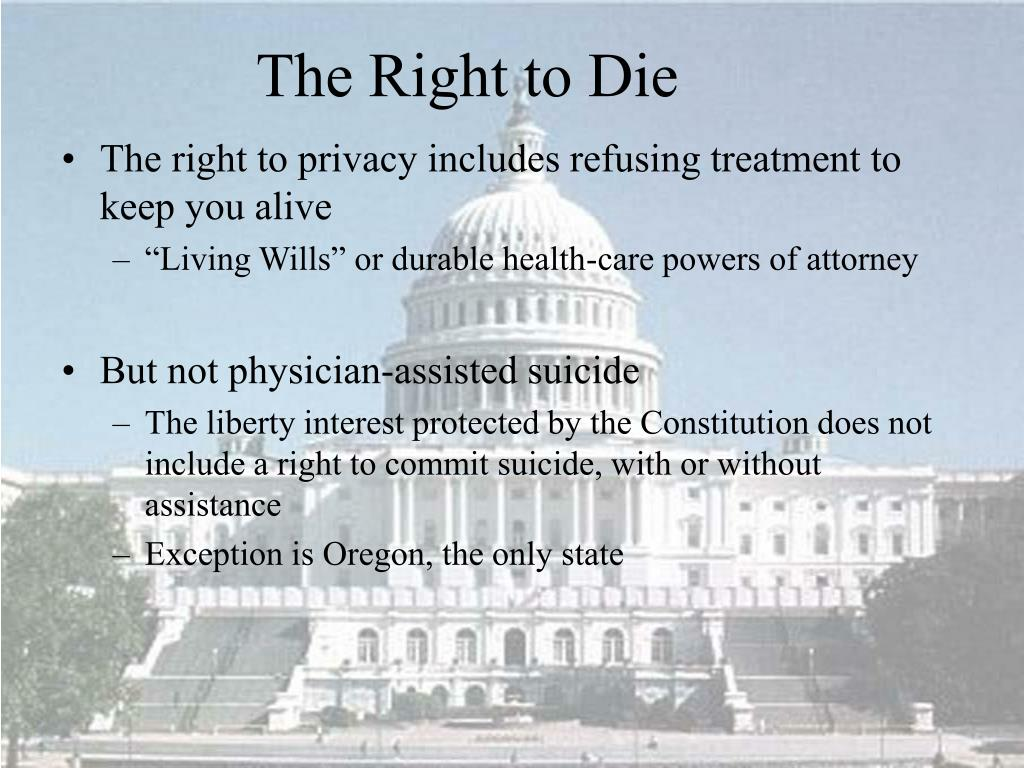 The right to privacy includes refusing treatment to keep you alive