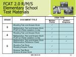 fcat 2 0 r m s elementary school test materials