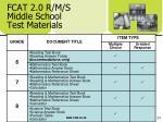 fcat 2 0 r m s middle school test materials
