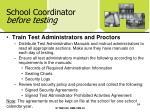 school coordinator before testing54