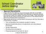 school coordinator before testing56