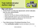 test administrator before testing44