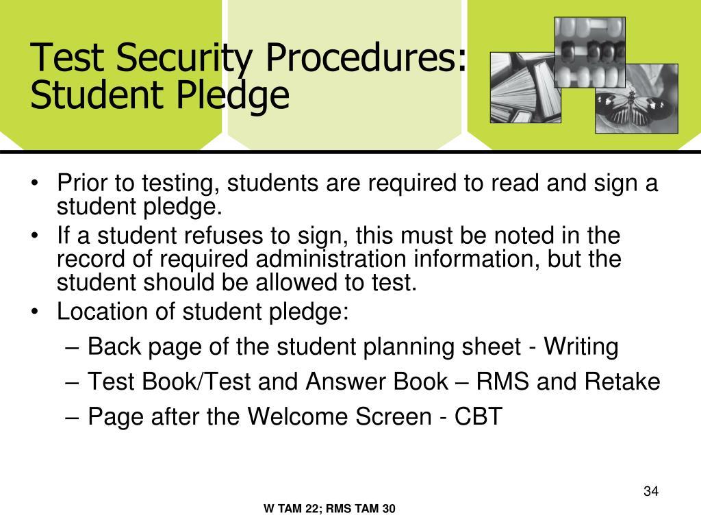 Test Security Procedures: