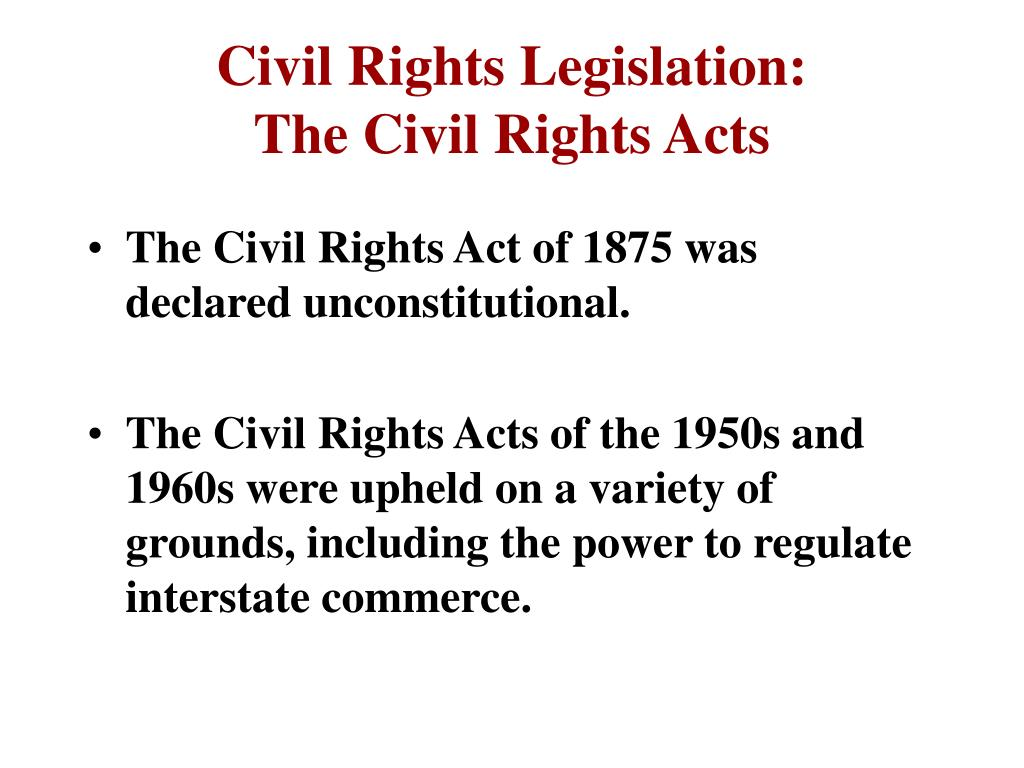 Civil Rights Legislation: