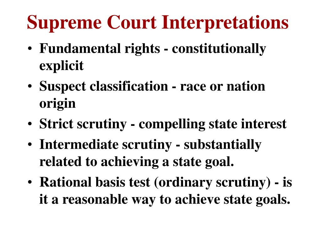 Supreme Court Interpretations