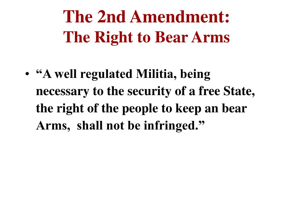 The 2nd Amendment: