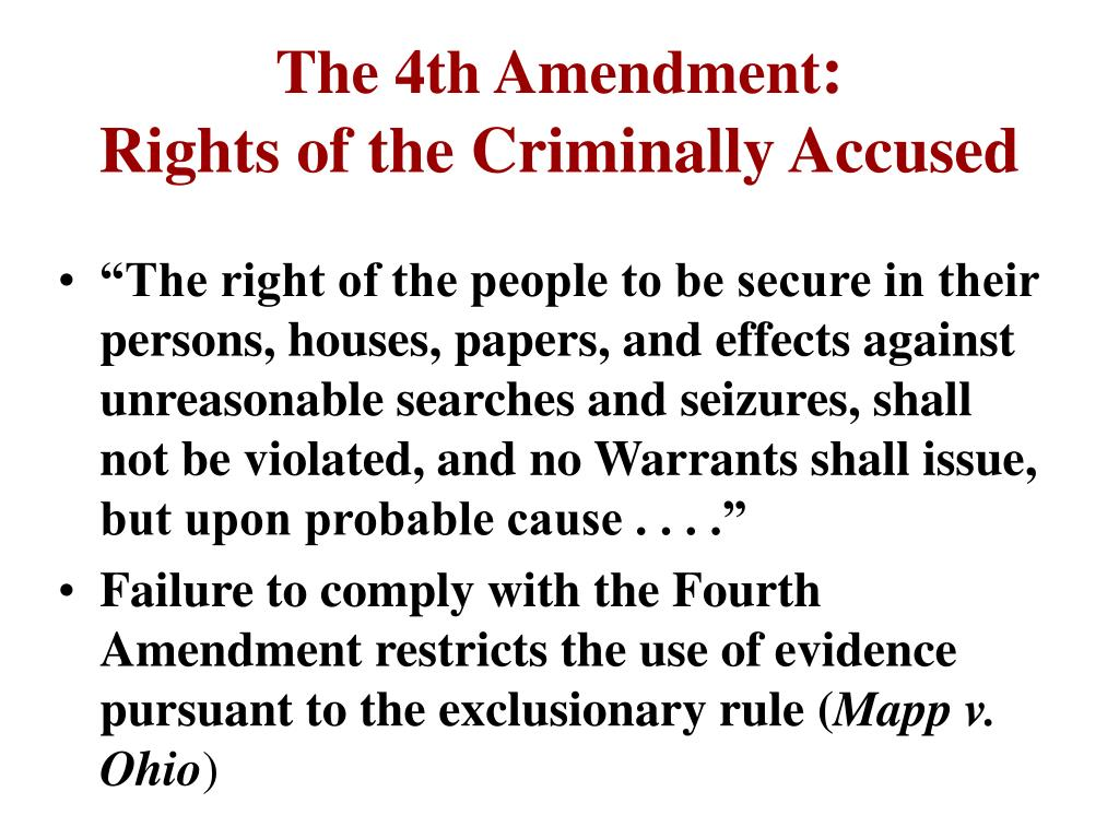 The 4th Amendment