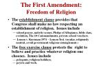 the first amendment freedom of religion