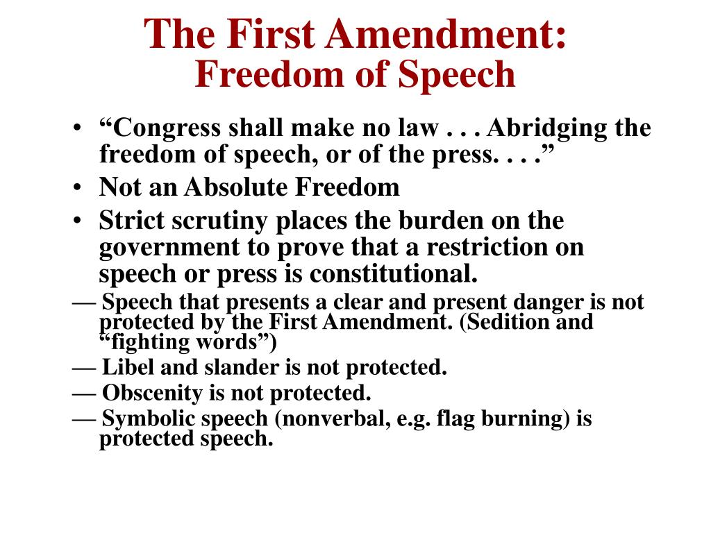 The First Amendment: