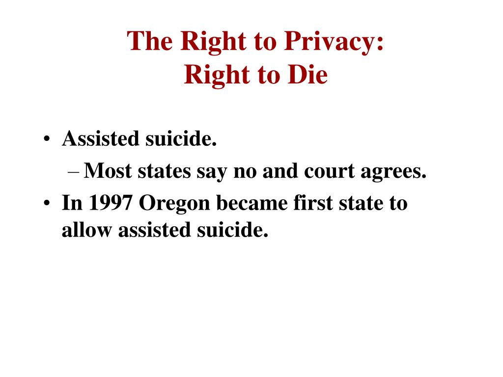 The Right to Privacy: