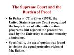 the supreme court and the burden of proof
