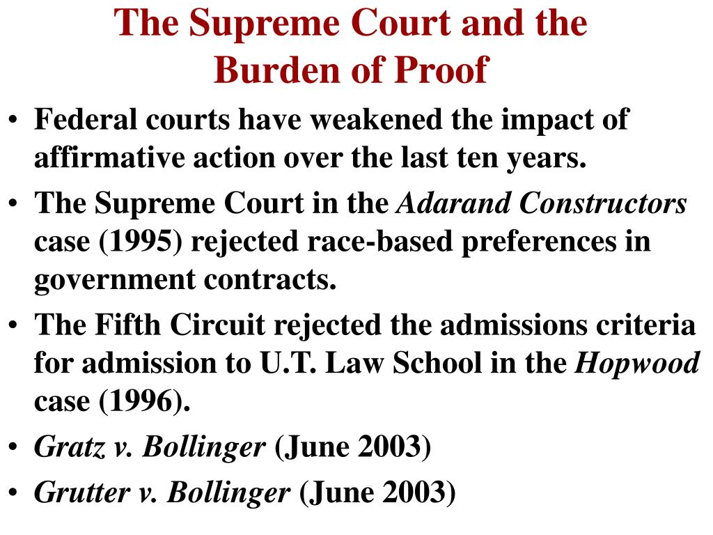 The Supreme Court and the