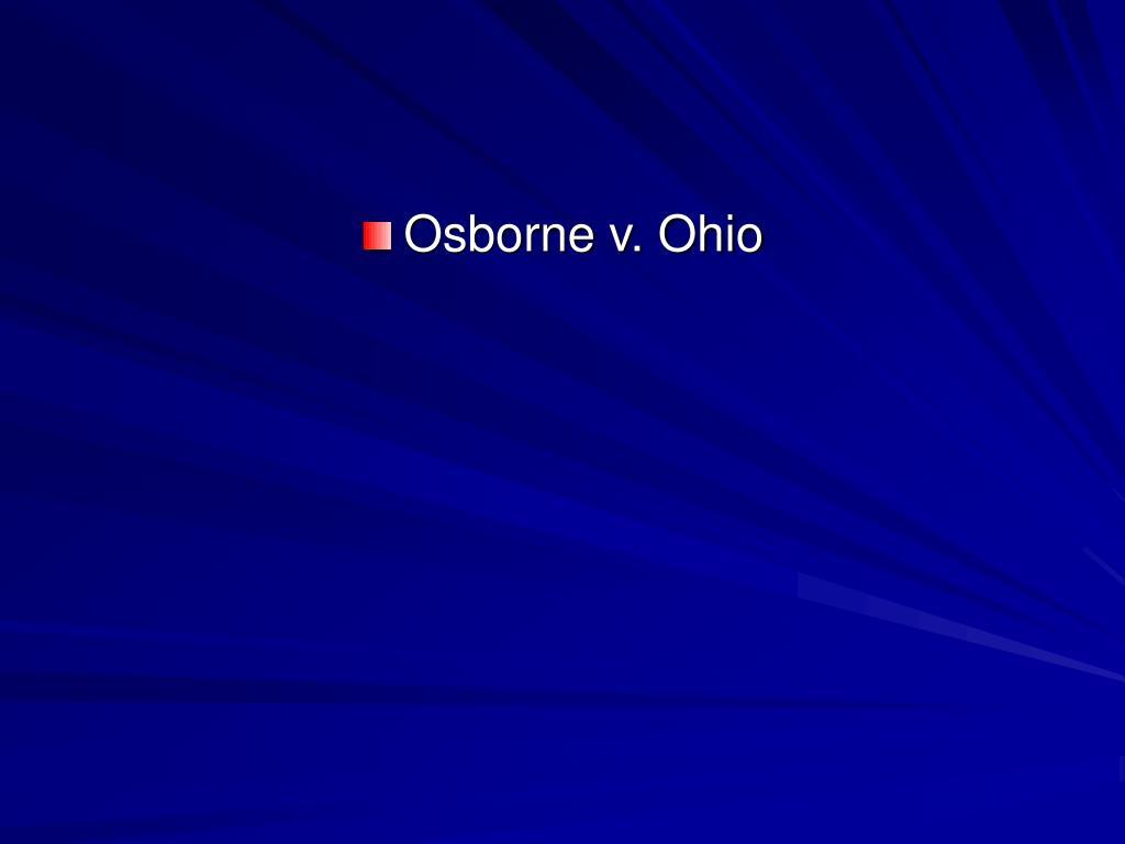 Osborne v. Ohio