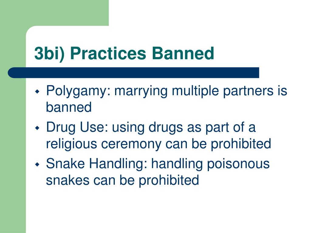3bi) Practices Banned