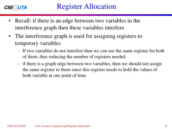 Register Allocation