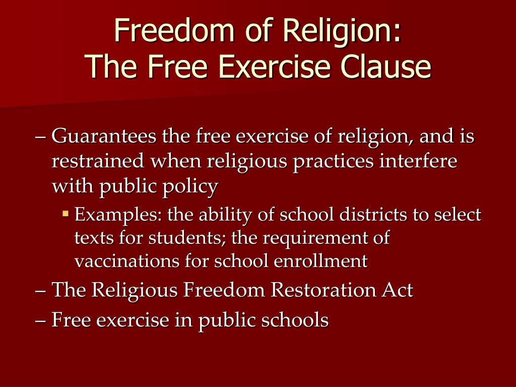 Freedom of Religion: