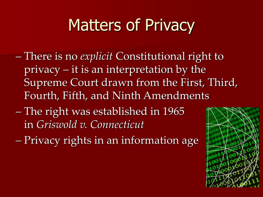 Matters of Privacy