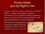 privacy rights and the right to die