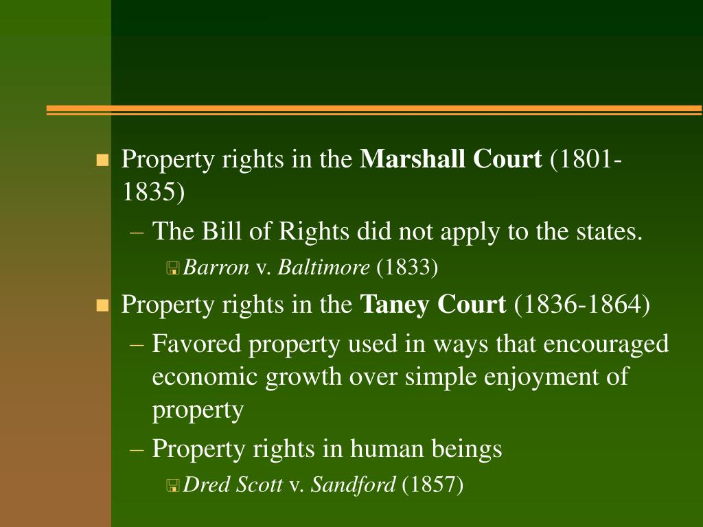 Property rights in the