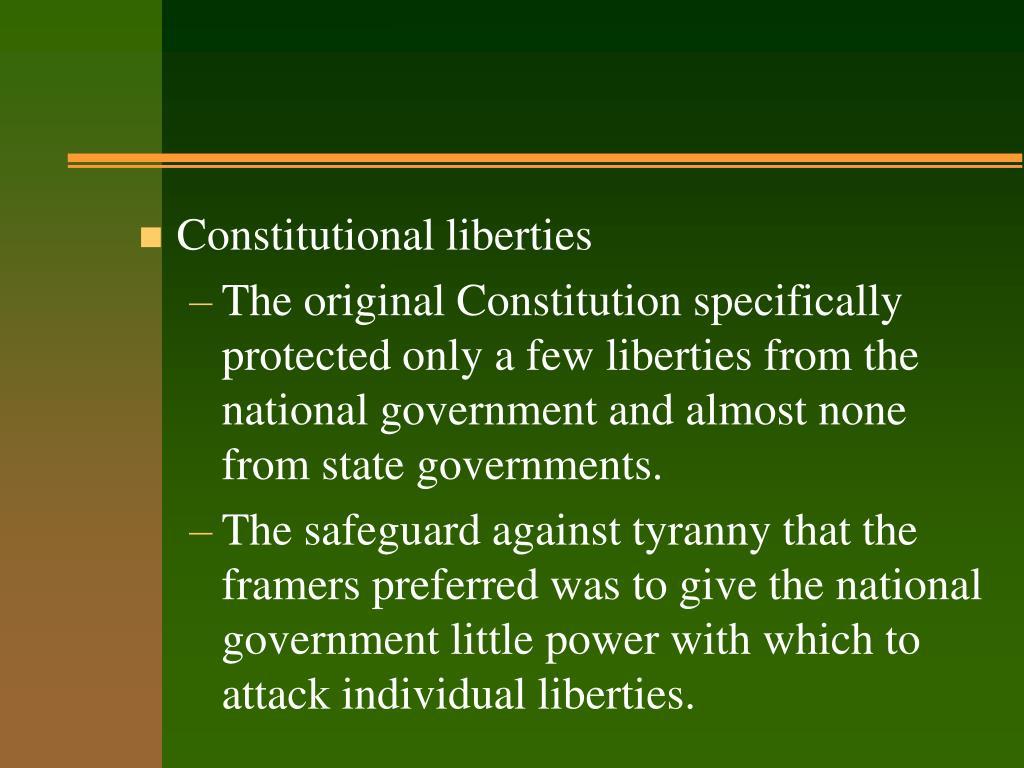 Constitutional liberties