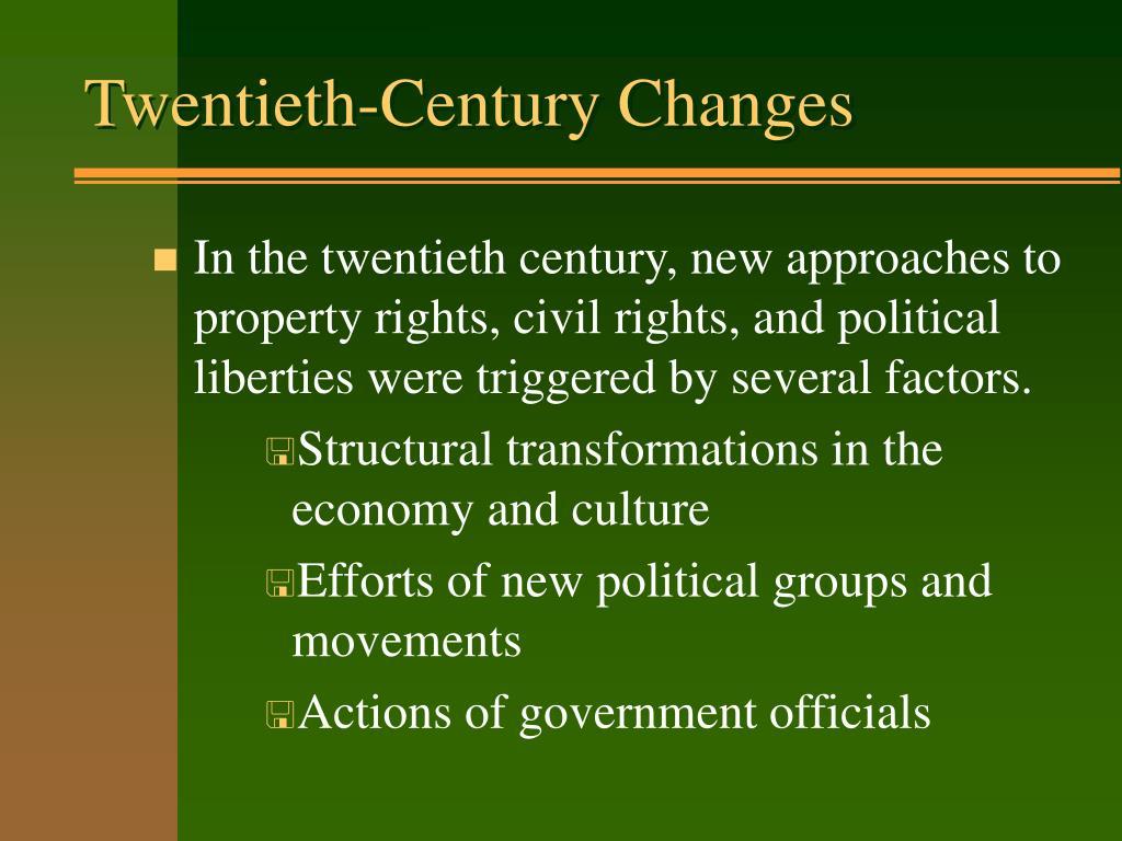 Twentieth-Century Changes