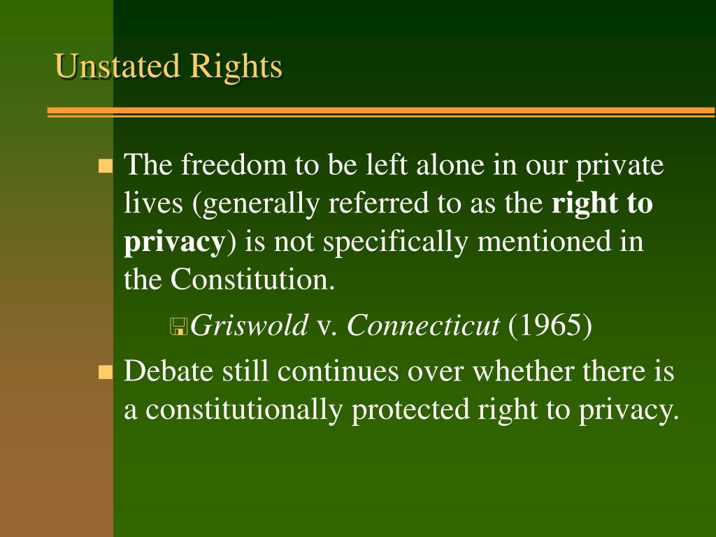 Unstated Rights