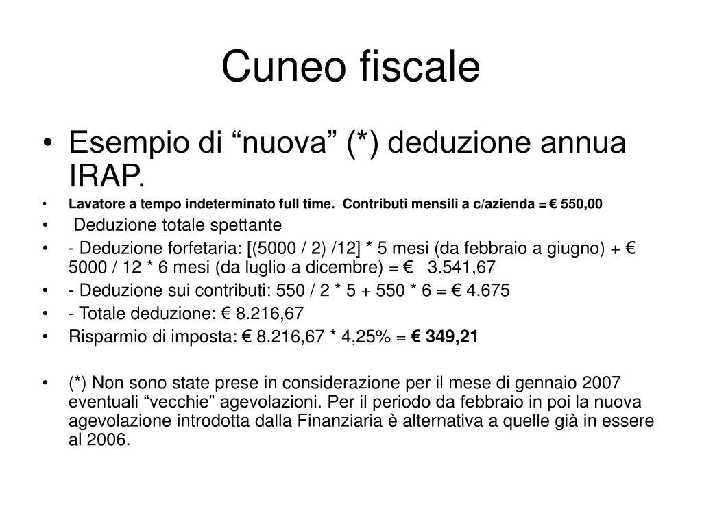 Cuneo fiscale