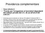 previdenza complementare62