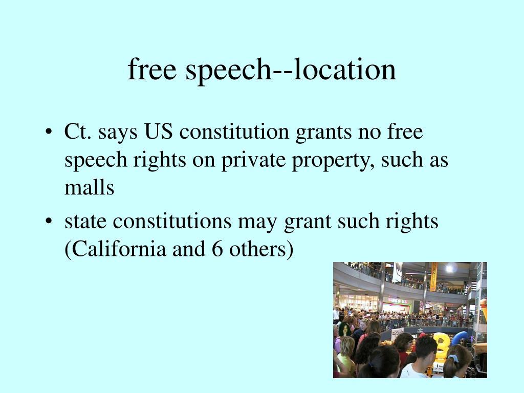 free speech--location
