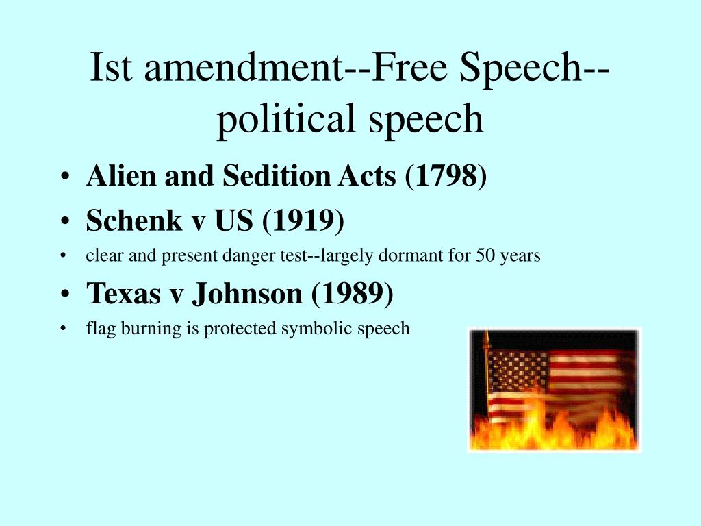 Ist amendment--Free Speech--political speech