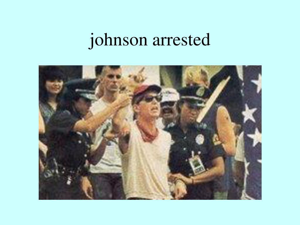 johnson arrested