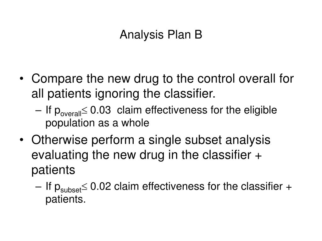 Analysis Plan B