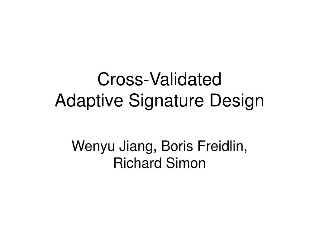 Cross-Validated