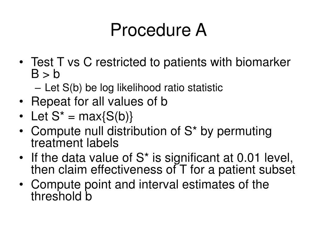Procedure A