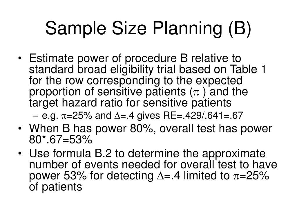 Sample Size Planning (B)